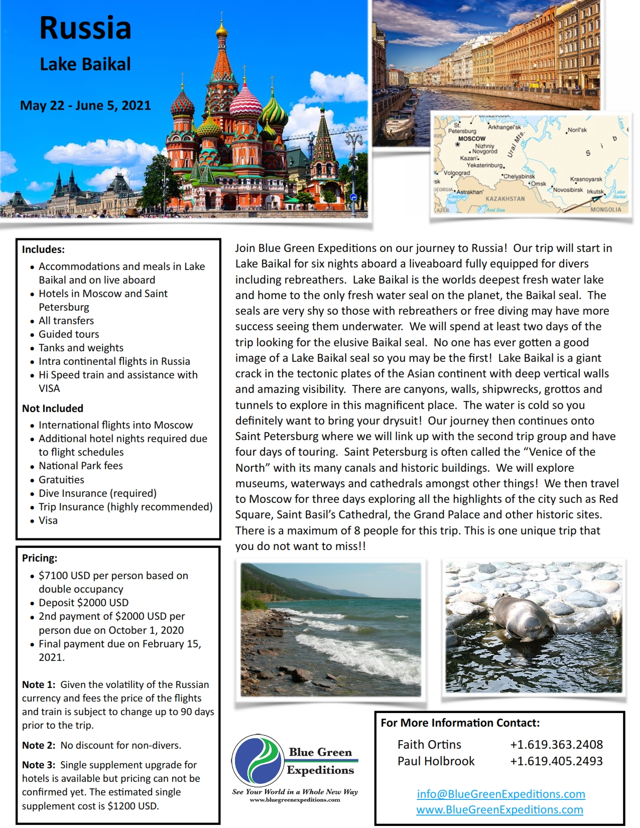 Trip: Lake Baikal May 22 - June 5, 2021